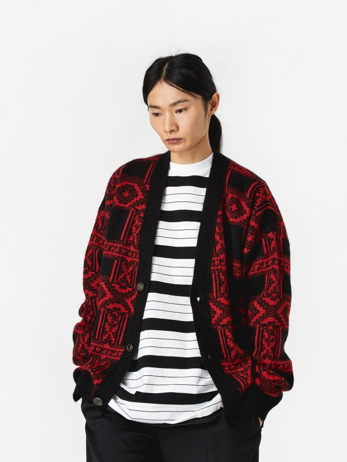 Aries Bandana Cardigan - Red (Image 1)