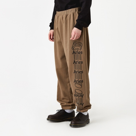 Column Sweatpants - Khaki/Black