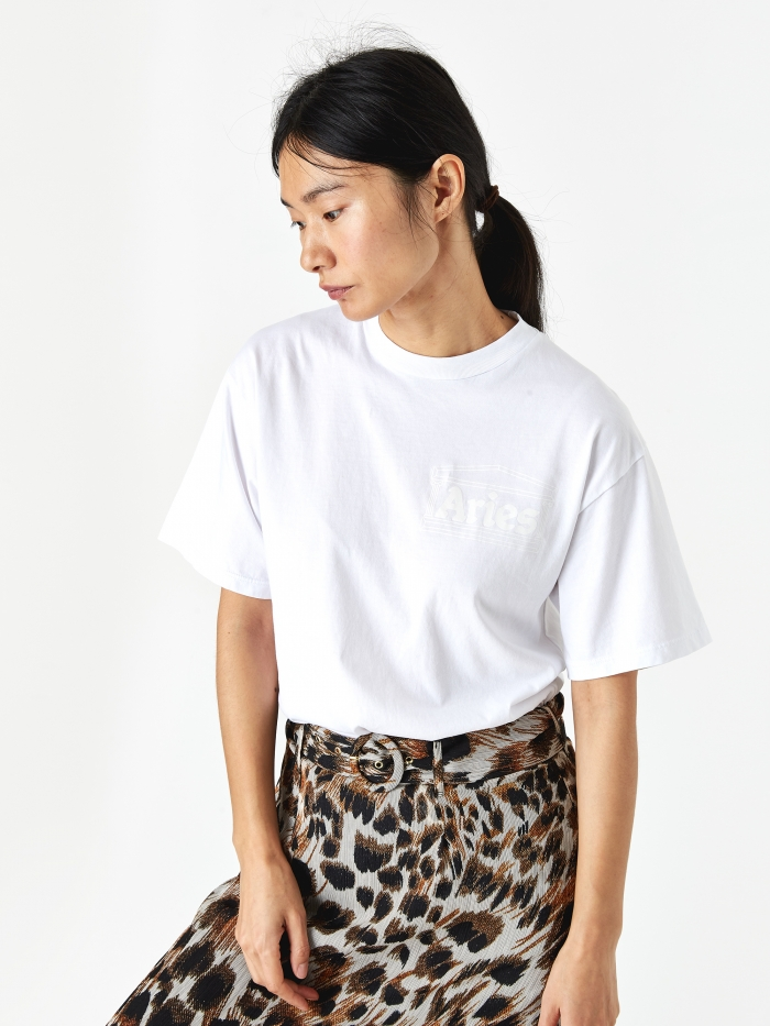 Aries Basic Temple T-Shirt - White (Image 1)