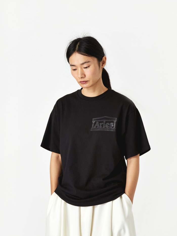 Aries Basic Temple T-Shirt - Black (Image 1)