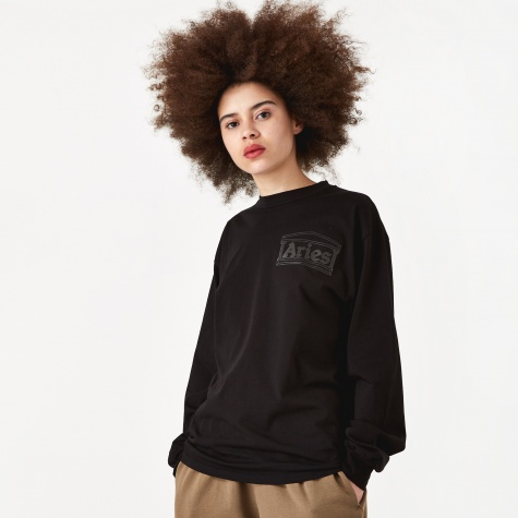Basic Temple Longsleeve T-Shirt - Black