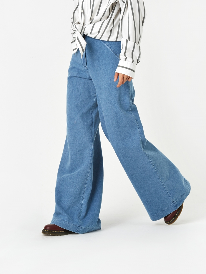 Barena Eugenia Jeans - Bleach Wash (Image 1)
