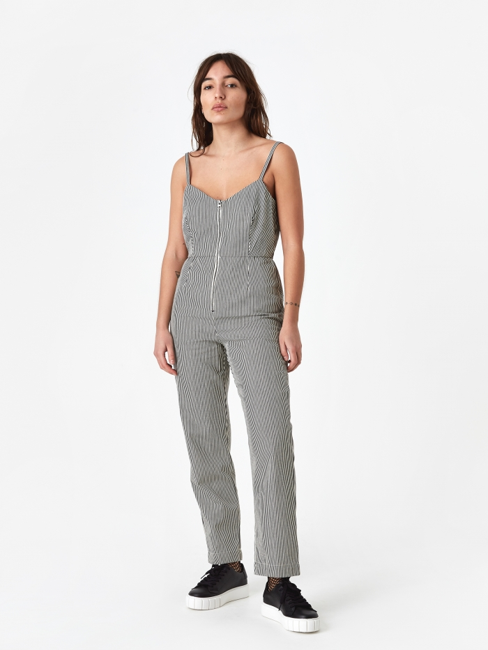 Mara Hoffman Beatriz Jumpsuit - Black/Cream (Image 1)
