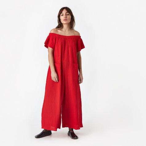 Blanche Jumpsuit - Red
