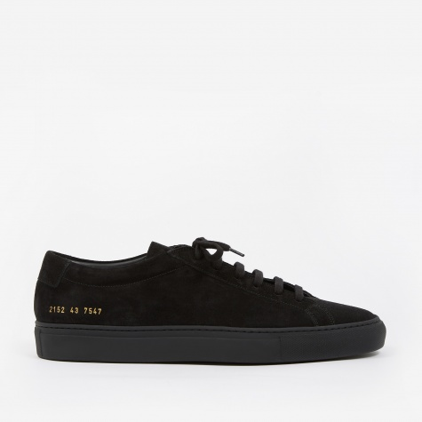 Achilles Low Suede - Black/Black