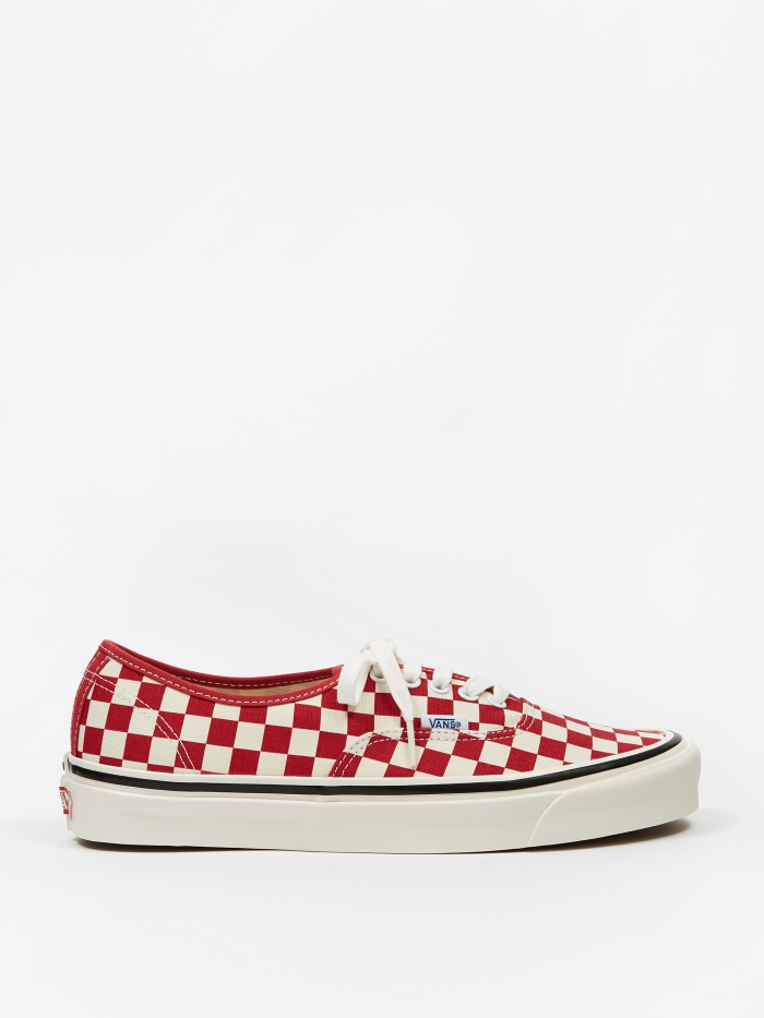 Vans Authentic 44 DX - (Anaheim Factory) Red/Check (Image 1)