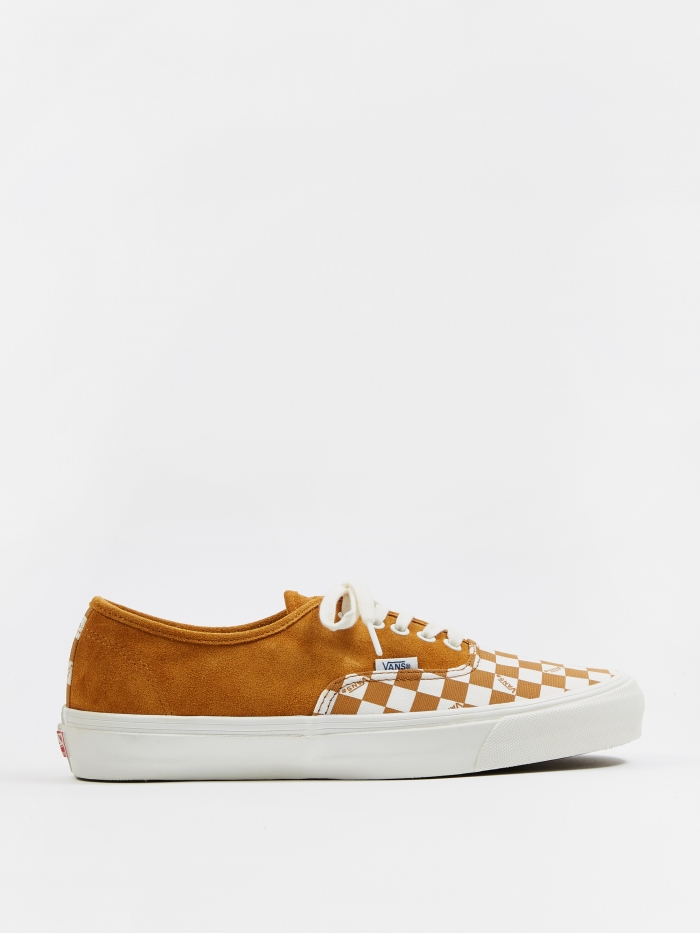 Vans Vault OG Authentic LX - (Suede/Canvas) Buckthorn Brown/Chec (Image 1)