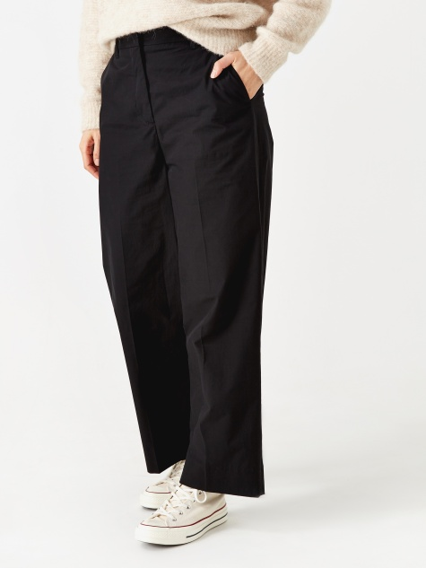 Katty Heavy Poplin Trouser - Black