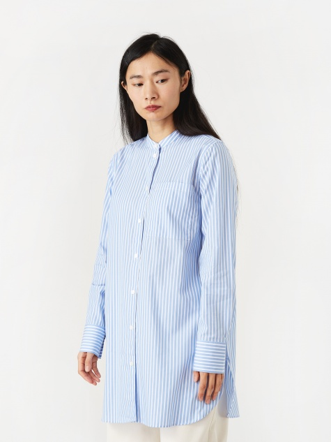 Pella Stripe Shirt - Pale Blue