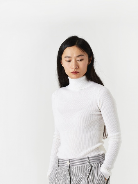 Siri Roll Neck Jumper - Ecru