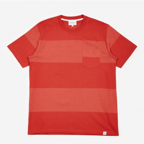 Johannes Block Stripe T-Shirt - Askja Red