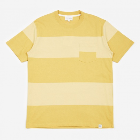Johannes Block Stripe T-Shirt - Sunwashed Yellow