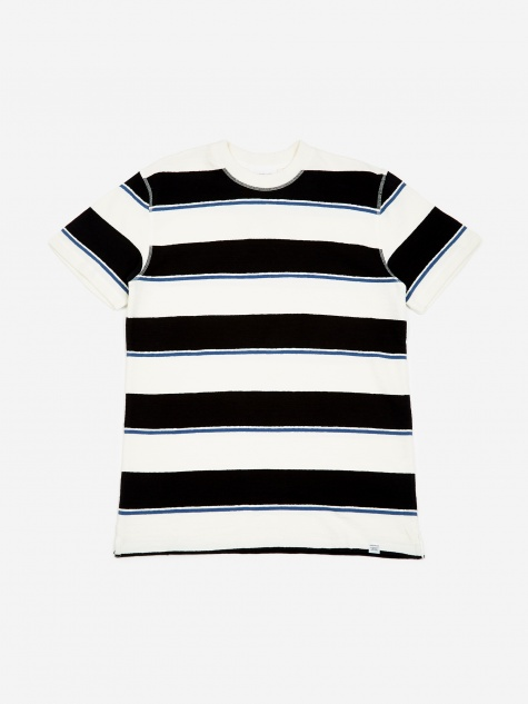 Johannes Textured Stripe T-Shirt - Dark Navy