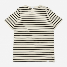 Norse Projects Godtfred Classic Compact Stripe T-Shirt - Ecru