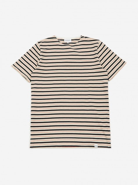 Godtfred Classic Compact Stripe SS T-Shirt - Red