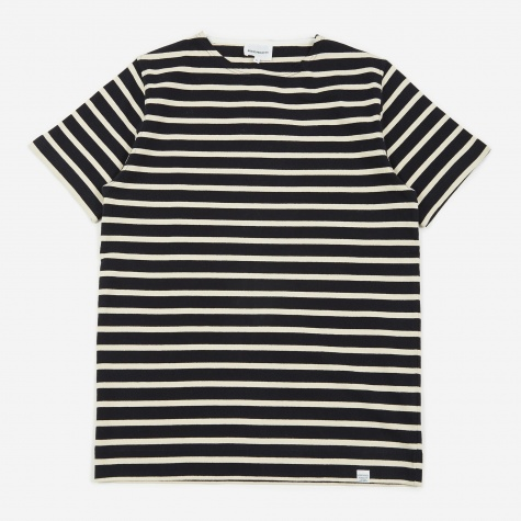 Godtfred Classic Compact Stripe T-Shirt - Navy