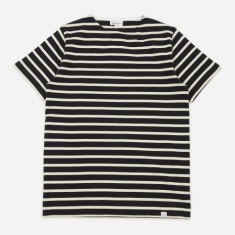 Norse Projects Godtfred Classic Compact Stripe SS T-Shirt - Navy
