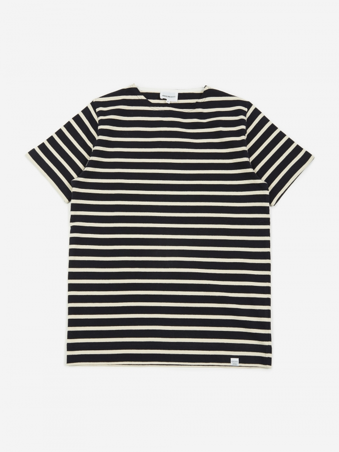 Norse Projects Godtfred Classic Compact Stripe T-Shirt - Navy (Image 1)