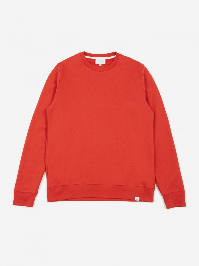 Norse Projects Vagn Classic Crewneck Sweatshirt - Askja Red (Image 1)