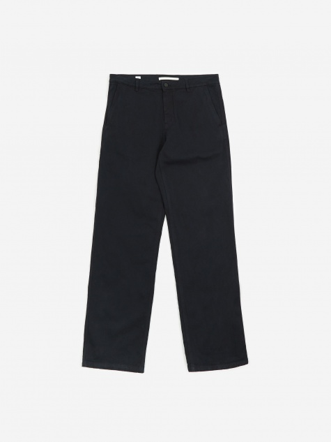 Josef Organic Twill Trouser - Dark Navy