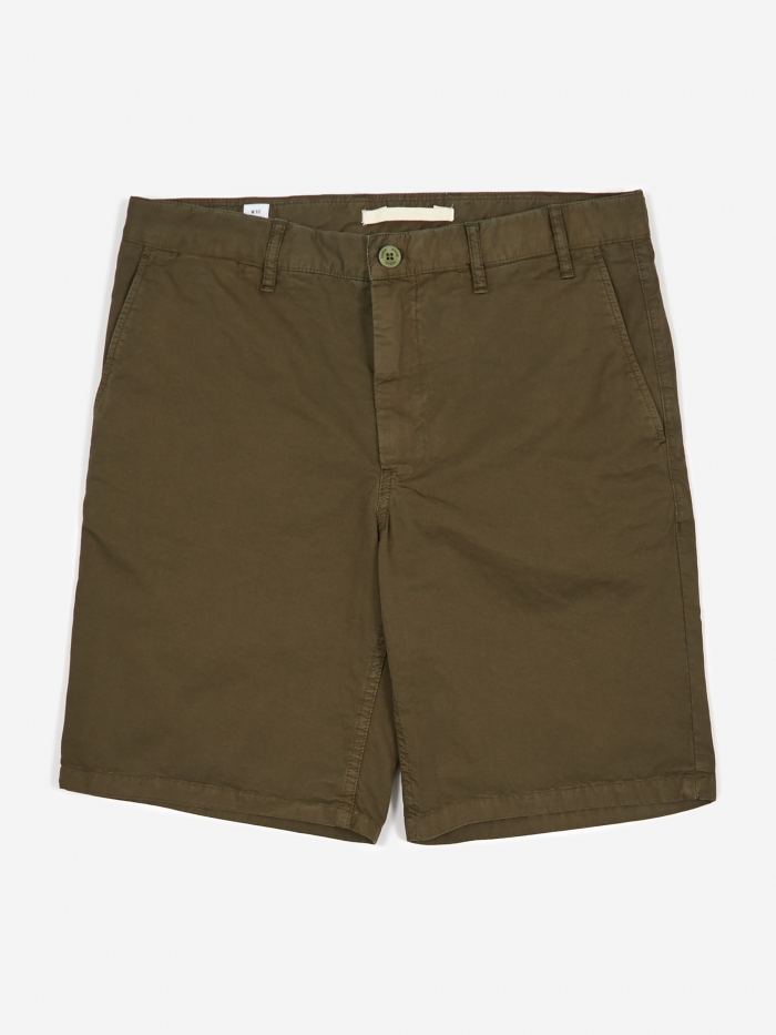 Norse Projects Aros Light Twill Short - Ivy Green (Image 1)
