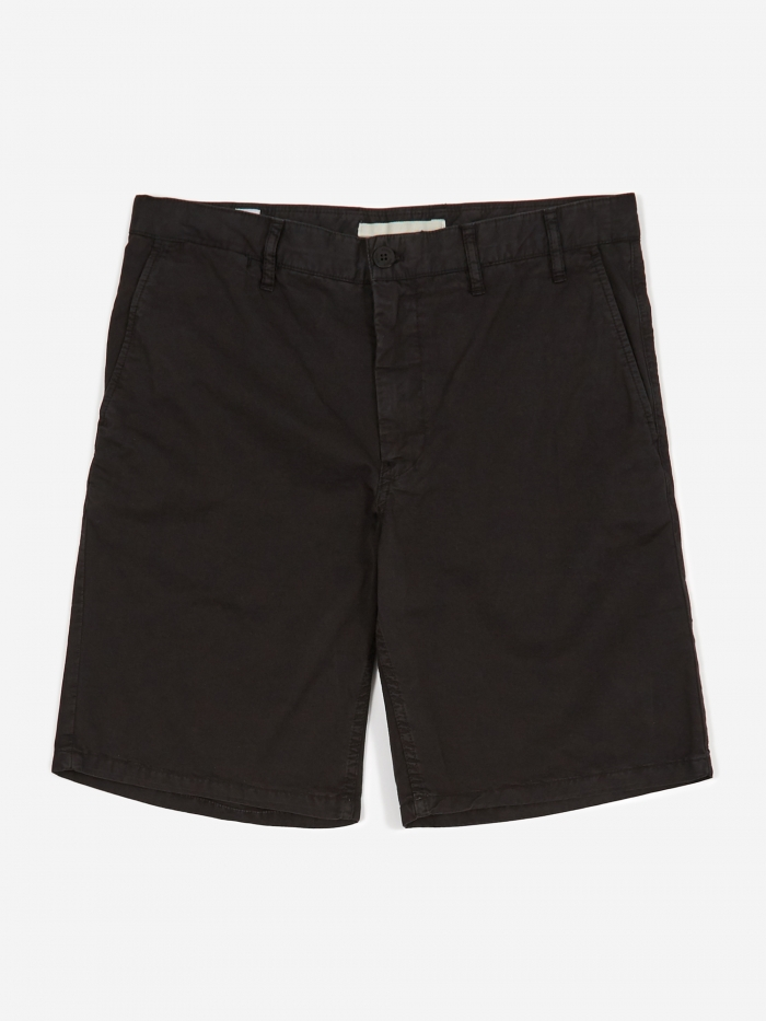 Norse Projects Aros Light Twill Short - Black (Image 1)