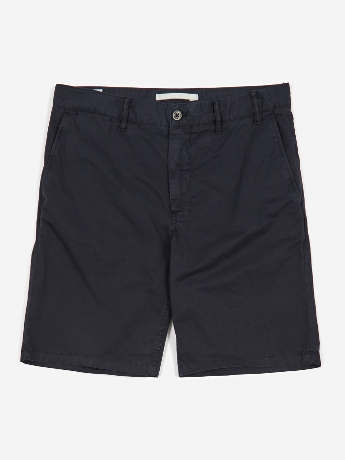 Norse Projects Aros Light Twill Short - Dark Navy (Image 1)
