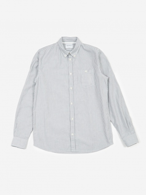 Anton Oxford Shirt - Magnet Grey Stripe