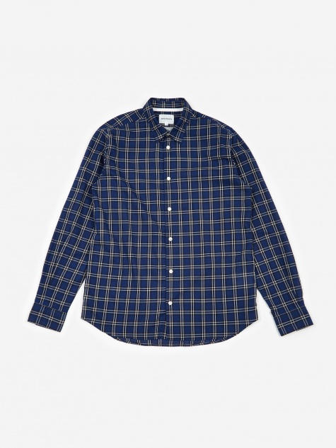 Hans Summer Check Shirt - Dark Navy