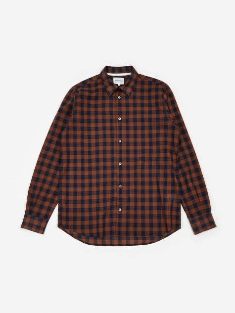 Hans Summer Check Shirt - Russet
