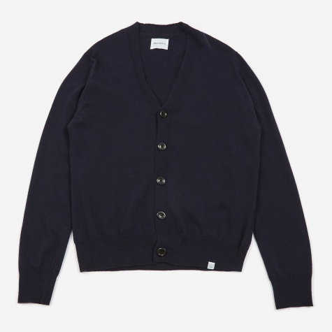 Adam Light Wool Cardigan - Dark Navy