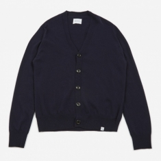 Norse Projects Adam Light Wool Cardigan - Dark Navy