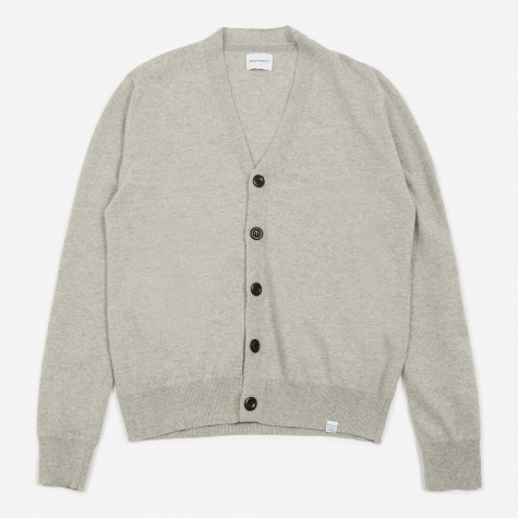 Adam Light Wool Cardigan - Light Grey Melange