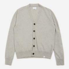 Norse Projects Adam Light Wool Cardigan - Light Grey Melange