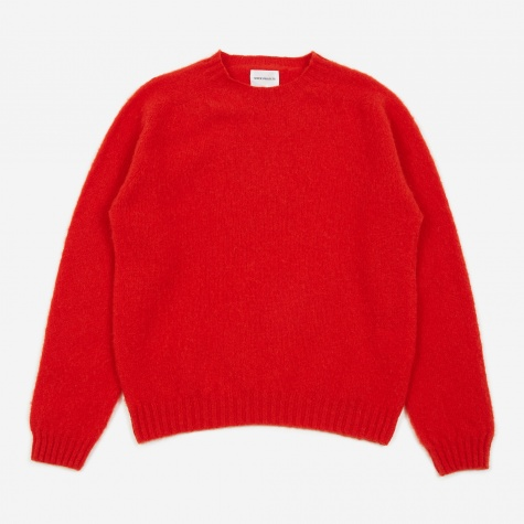Birnir Brushed Lambswool Sweater - Askja Red