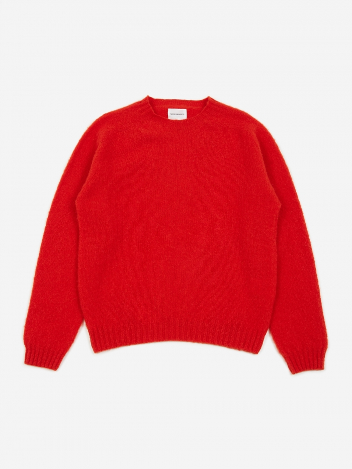 Norse Projects Birnir Brushed Lambswool Sweater - Askja Red (Image 1)