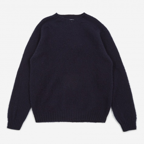 Birnir Brushed Lambswool Sweater - Dark Navy