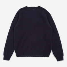 Norse Projects Birnir Brushed Lambswool Sweater - Dark Navy