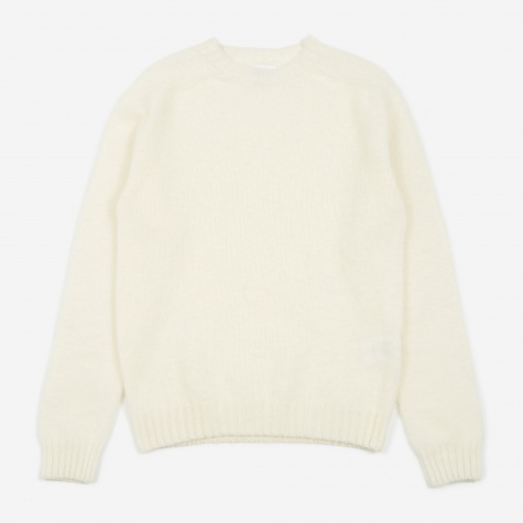 Birnir Brushed Lambswool Sweater - Kit White