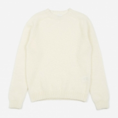 Norse Projects Birnir Brushed Lambswool Sweater - Kit White