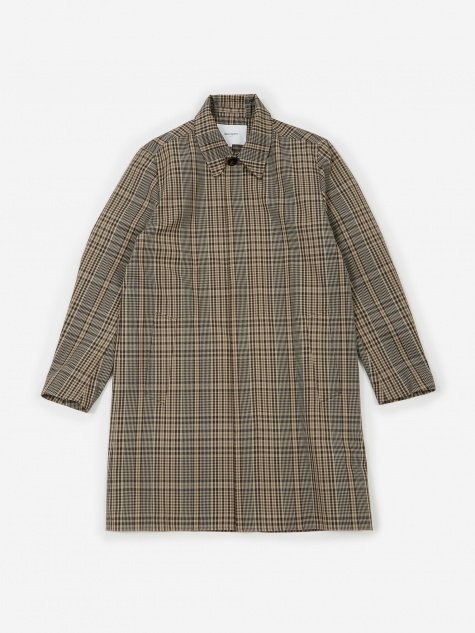 Thor Compact Twill Mac Coat - Check