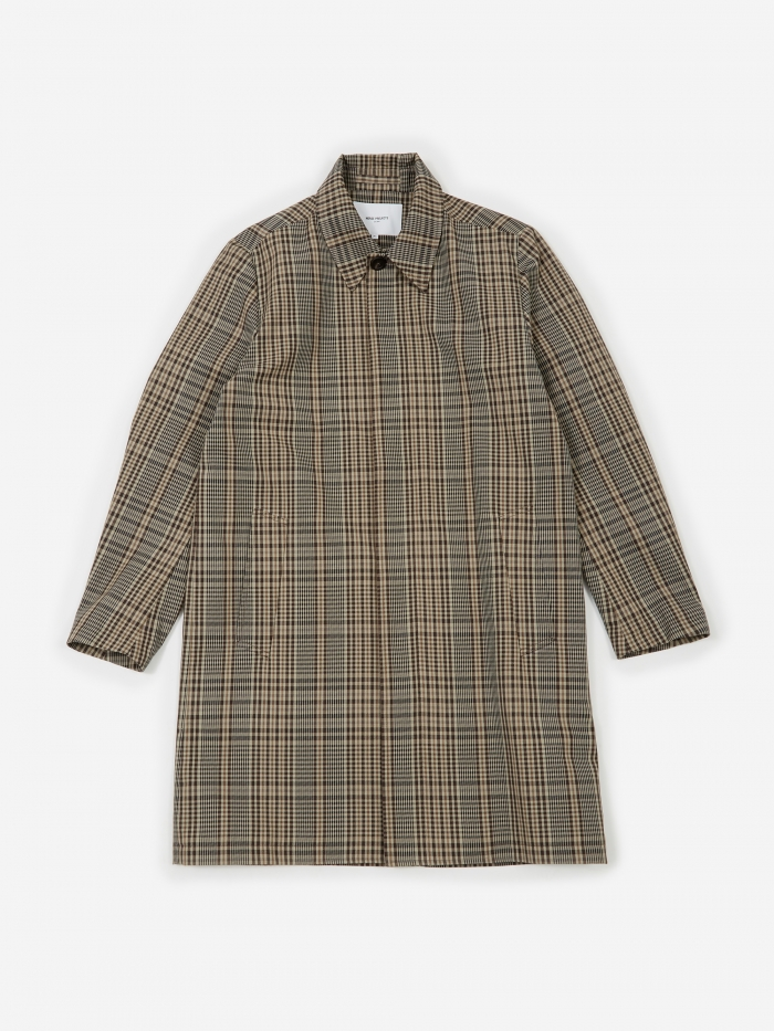 Norse Projects Thor Compact Twill Mac Coat - Check (Image 1)