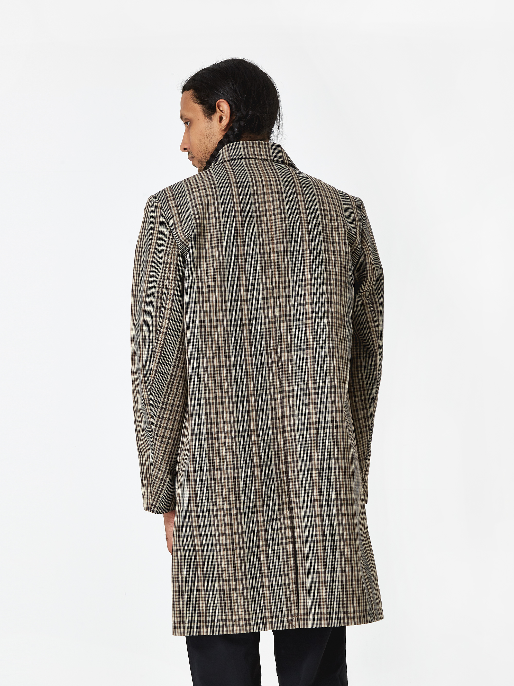 88bb82cbba4 Norse Projects Thor Compact Twill Mac Coat - Check