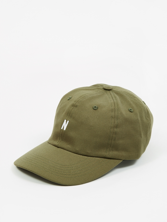 Norse Projects Twill Sports Cap - Ivy Green (Image 1)