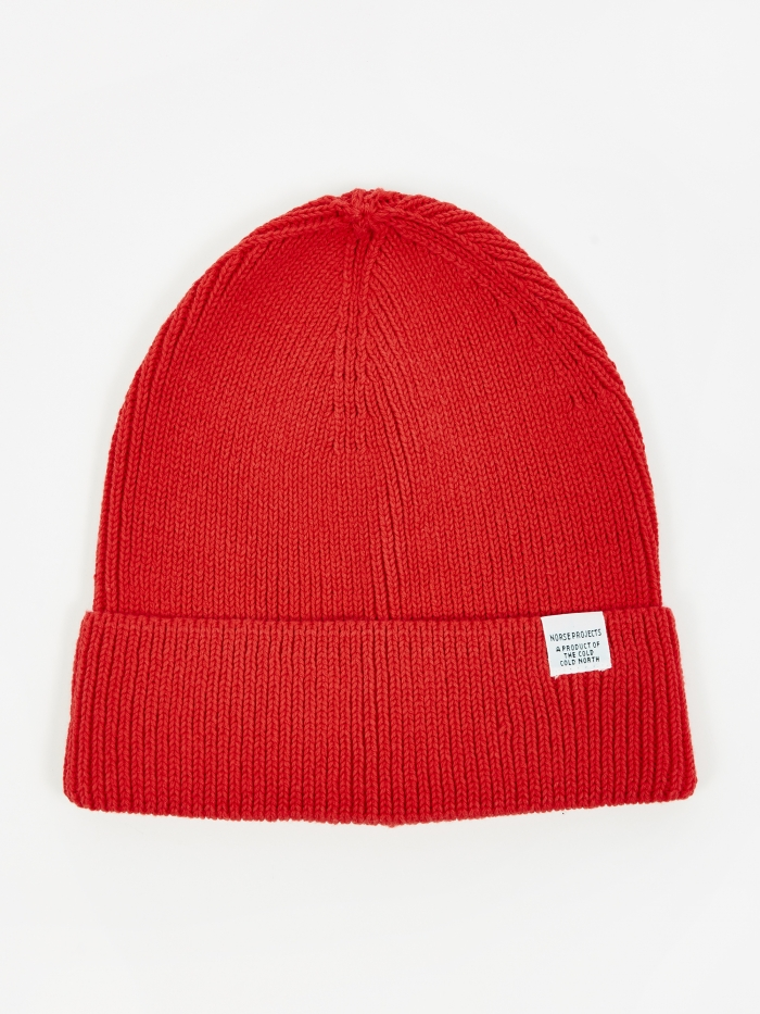 Norse Projects Cotton Watch Beanie - Askja Red (Image 1)
