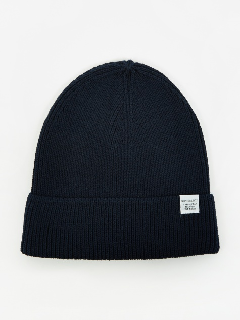 72c85c410f4 Cotton Watch Beanie - Dark Navy. Norse ProjectsCotton ...