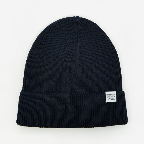 Cotton Watch Beanie - Dark Navy
