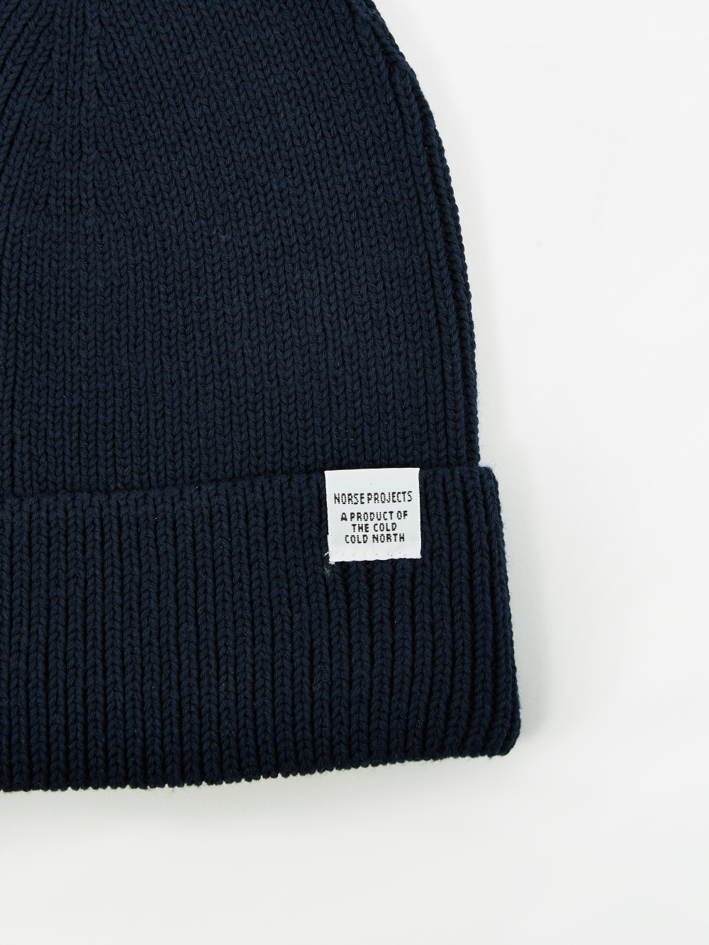 4a9eafdc8 Norse Projects Cotton Watch Beanie - Dark Navy
