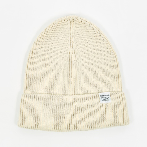 Cotton Watch Beanie - Ecru