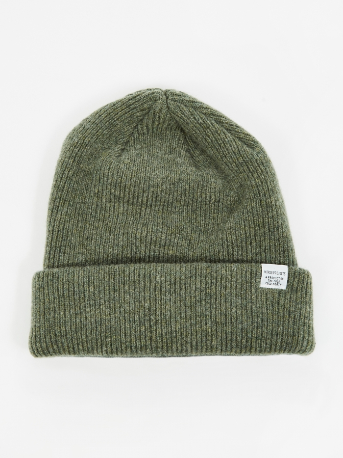 Norse Projects Beanie - Light Olive (Image 1)